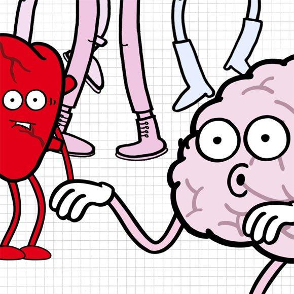 Hjärtat och Hjärnan . Karaktärer i  kampanj för CAN.