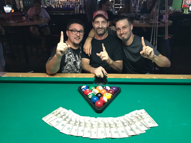Give it up for our first $1000 3 man tournament winners this August! Congrats guys. Looking forward to the next time!