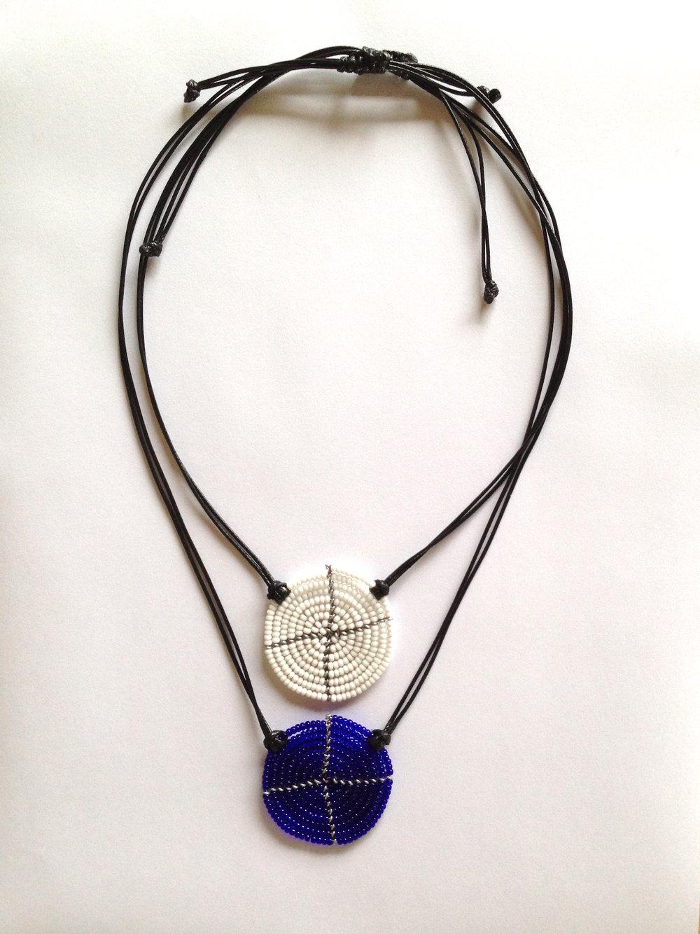 Disk Necklace White Blue.JPG