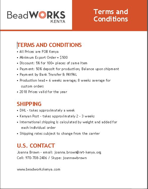 Copy of Terms and Conditions