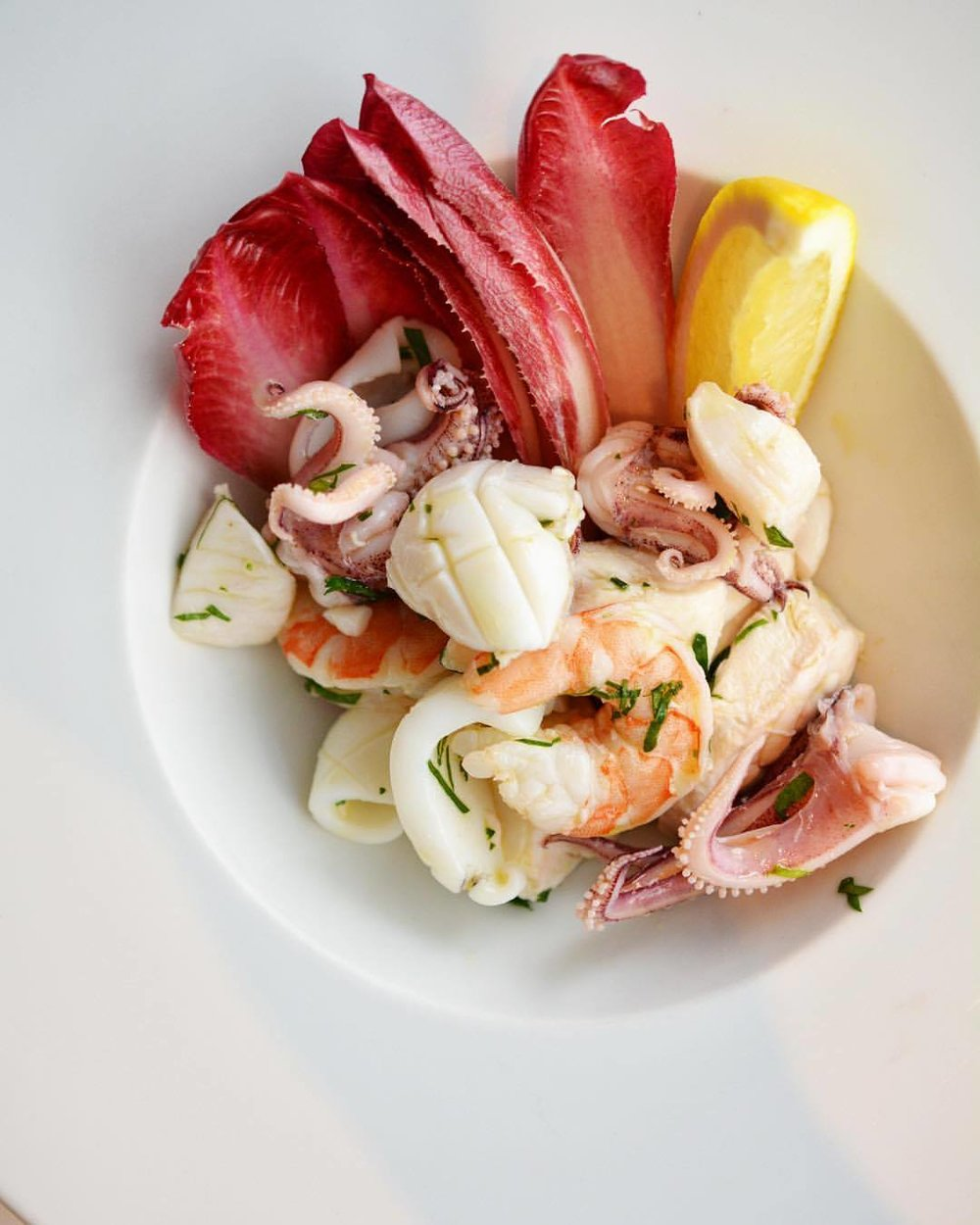 Ai Fiori's seafood salad for restaurant week