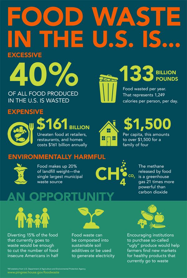 Overall food waste stats in US, Eat Drink Better