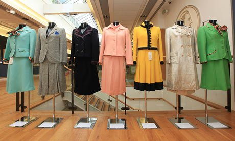 A collection of Margaret Thatcher's Dresses up for auction at Christie's. Frank Baron via The Guardian