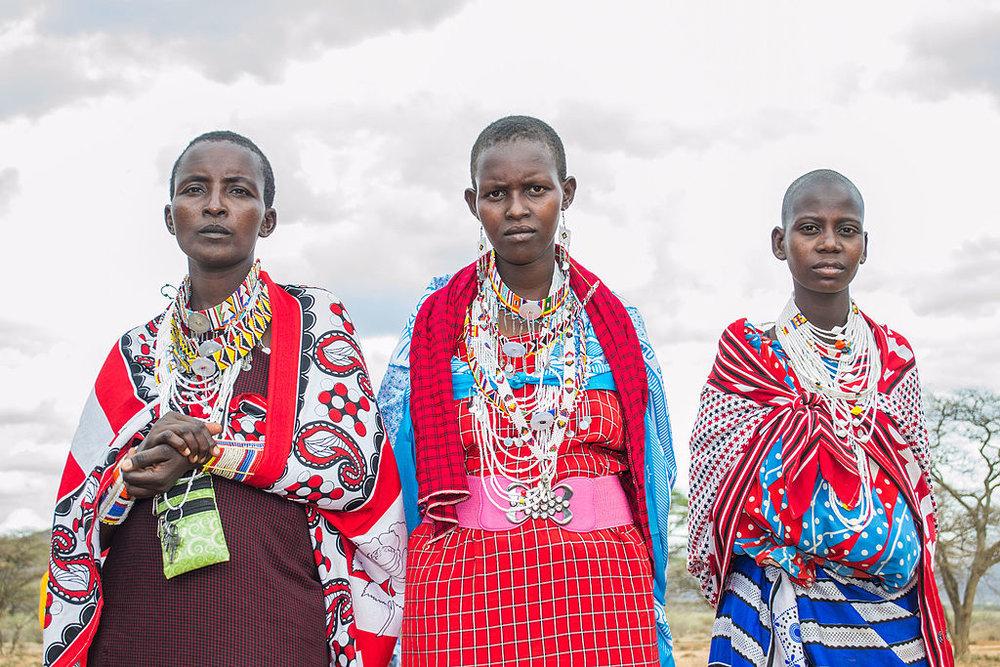 "by Jobmukuria <u><https://commons.wikimedia.org/wiki/File:Maasai_Girls.jpg"">via</a></u> Wikimedia Commons"
