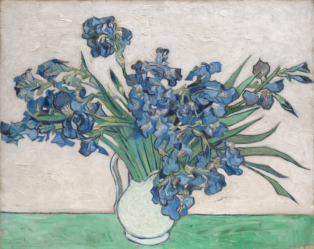 "Vincent van Gogh | Irises | 1890, <u><a href=""http://www.metmuseum.org/art/collection/search/436528"">via</a></u> The Met"