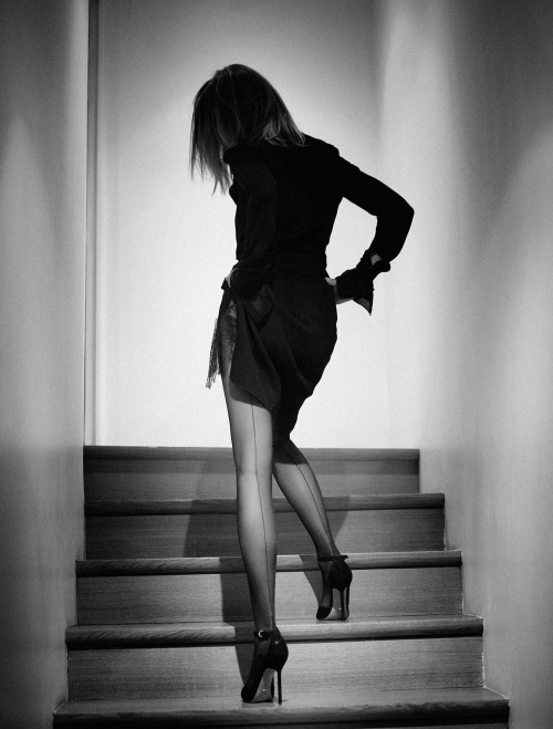 "Photo by Karl Lagerfeld <u><a href=""http://www.interviewmagazine.com/fashion/carine-roitfeld/"">via</a></u> Interview Magazine"