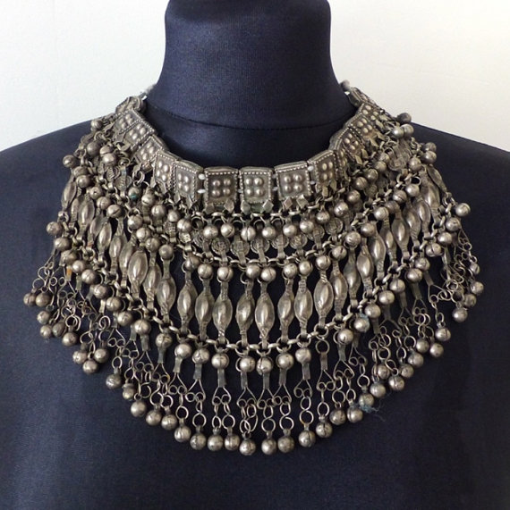 Vintage Yemeni Necklace via Etsy. Buy here.