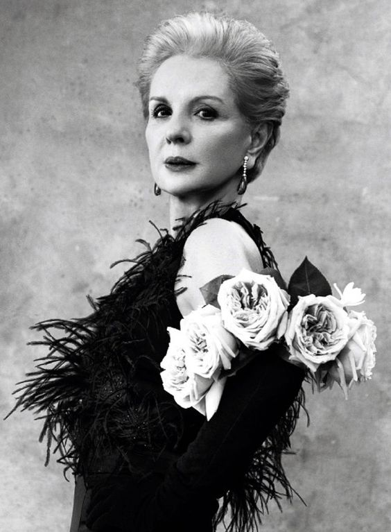 Carolina Herrera photographed by Victor Demarchelier for Harper's Bazaar