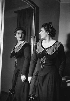 In 1952 in Milan before a performance of La Gioconda at La Scala. Photographer unknown.