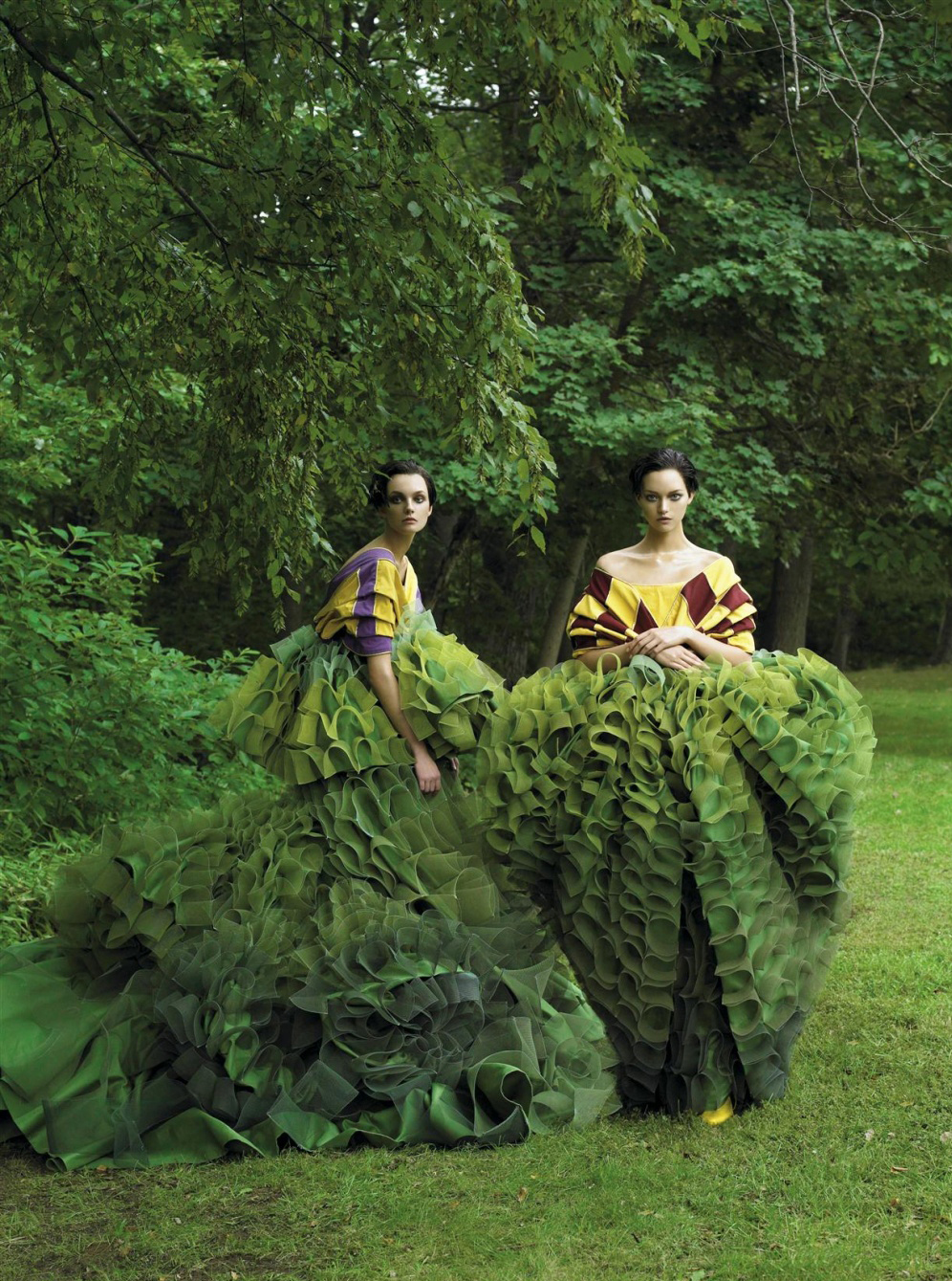 """Garden of Delights"" photographed by Steven Meisel for Vogue US, December 2006."