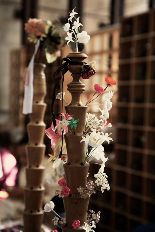 Handcrafted flowers at the house of Guillet photographed by Alfredo Piola via AnOther Magazine