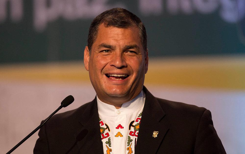 Ecuadorian President Rafael Correa. Photo: AP/ Moises Castillo