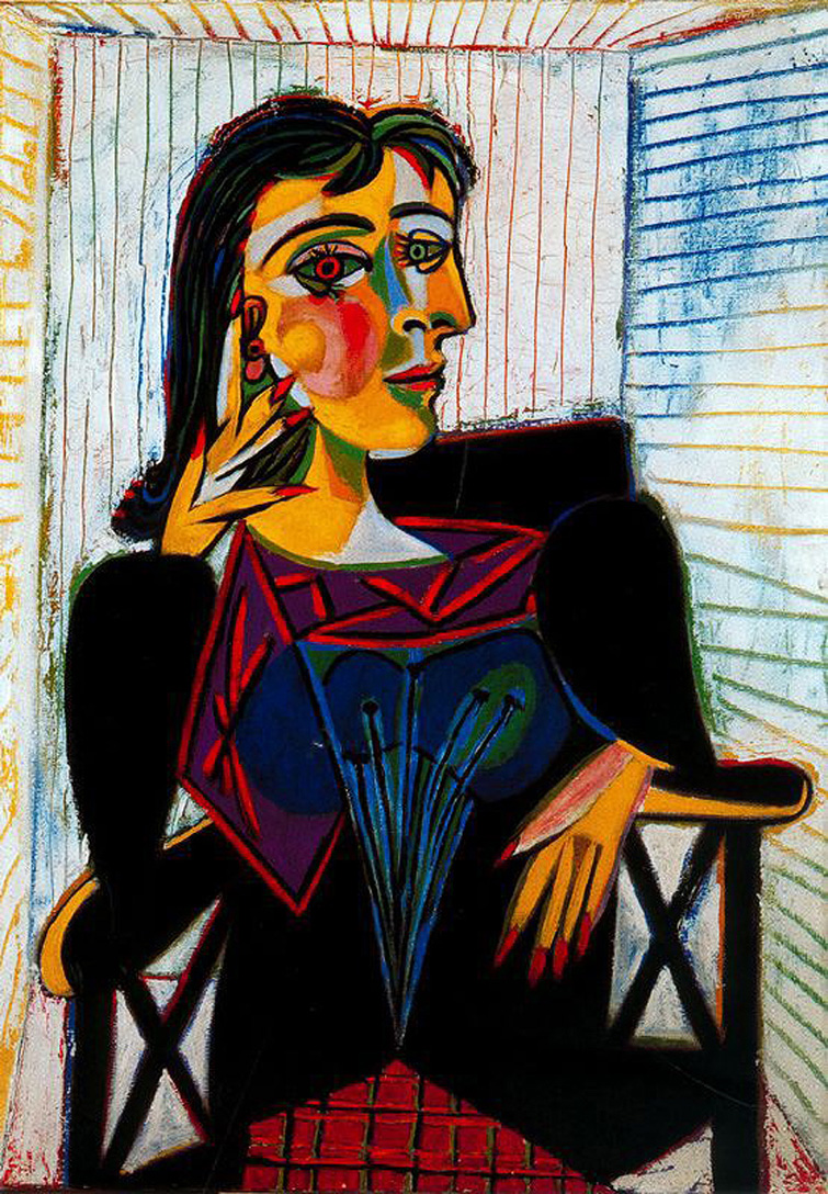 Portrait of Dora Maar, Picasso, 1937