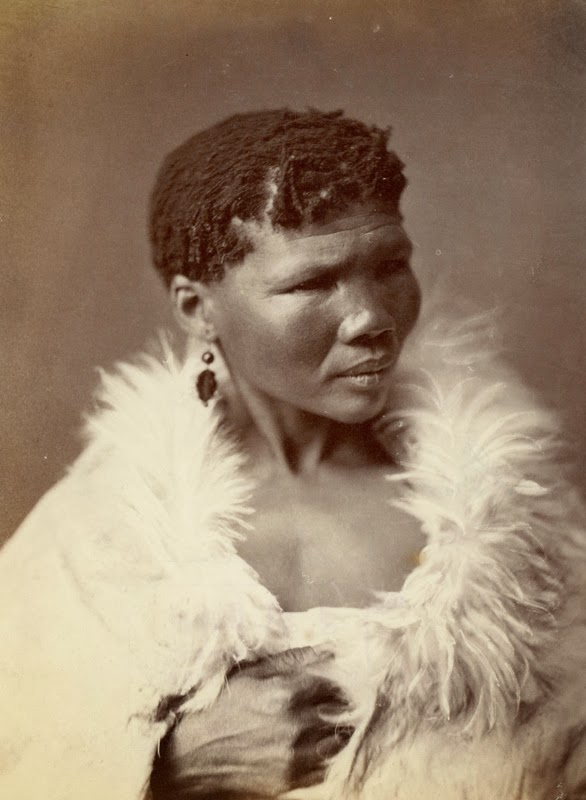 A woman from Katkop Mountains, South Africa by Samuel Baylis Barnard ca. 1870