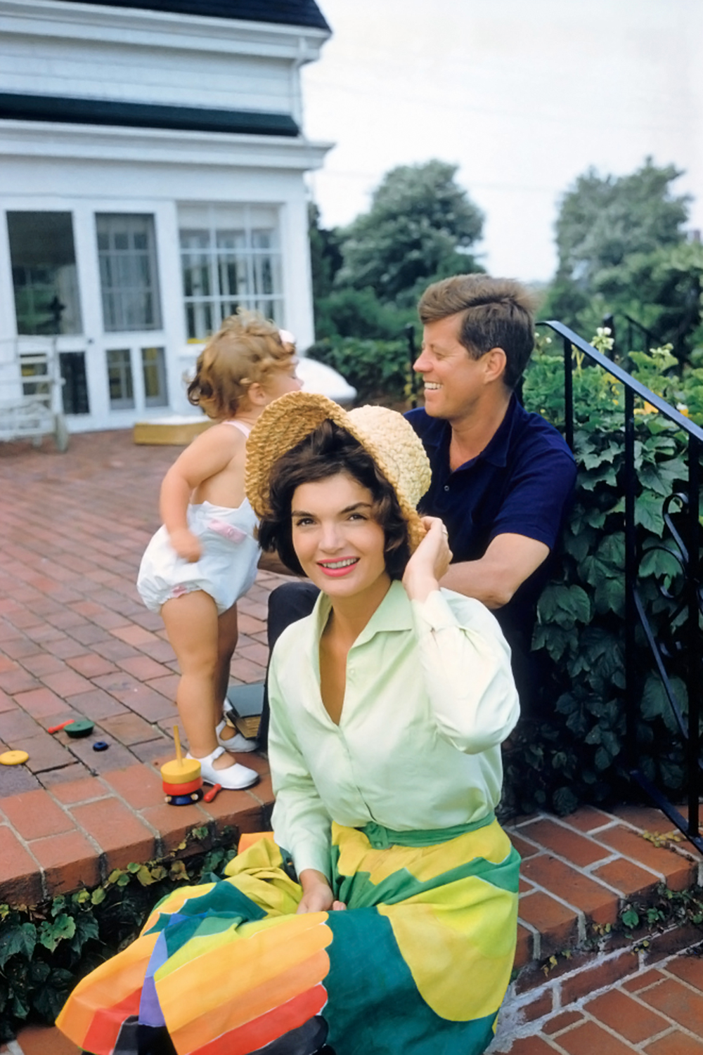 Jacqueline Kennedy with John F. Kennedy and Caroline by Mark Shaw, 1959