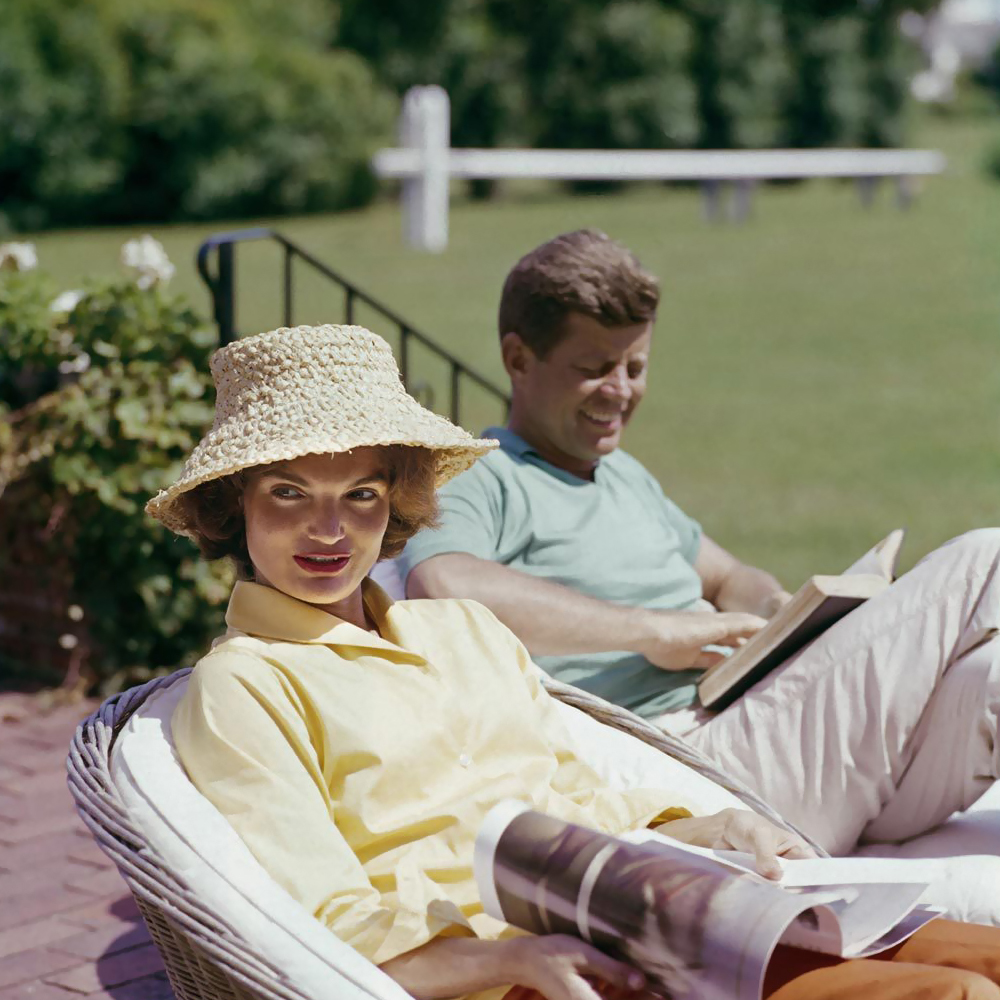 Jacqueline and John F. Kennedy by Mark Shaw, 1959