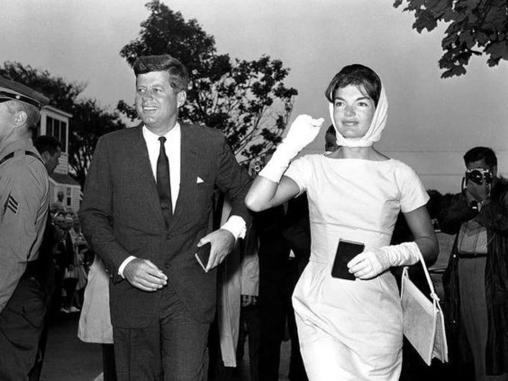 Jacqueline Kennedy with John F. Kennedy in 1961 AP Photo/WS
