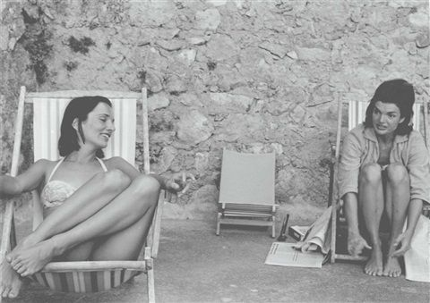 Lee and Jackie in Ravello, Italy by Benno Graziani, 1962