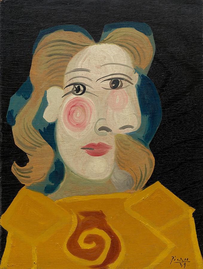 Dora Maar by Picasso, 1939  via  The Guggenheim Museum