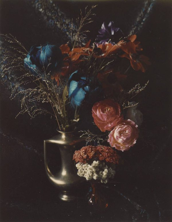 Floral with Peter's Brass Vase,  Boston | 1965 © Estate of Marie Cosindas, courtesy of Bruce Silverstein Gallery, NY