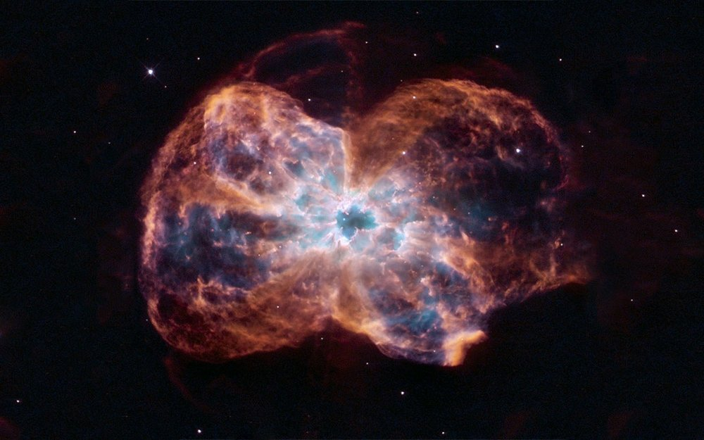 An image of a dying star captured by the NASA Hubble telescope. Credit:NASA, ESA, and K. Noll (STScI)  via  NASA.