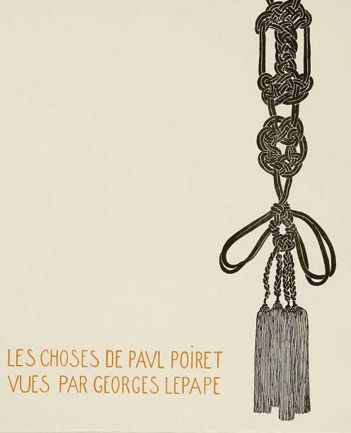 Les choses de Paul Poiret  by Georges Lepape, 1911