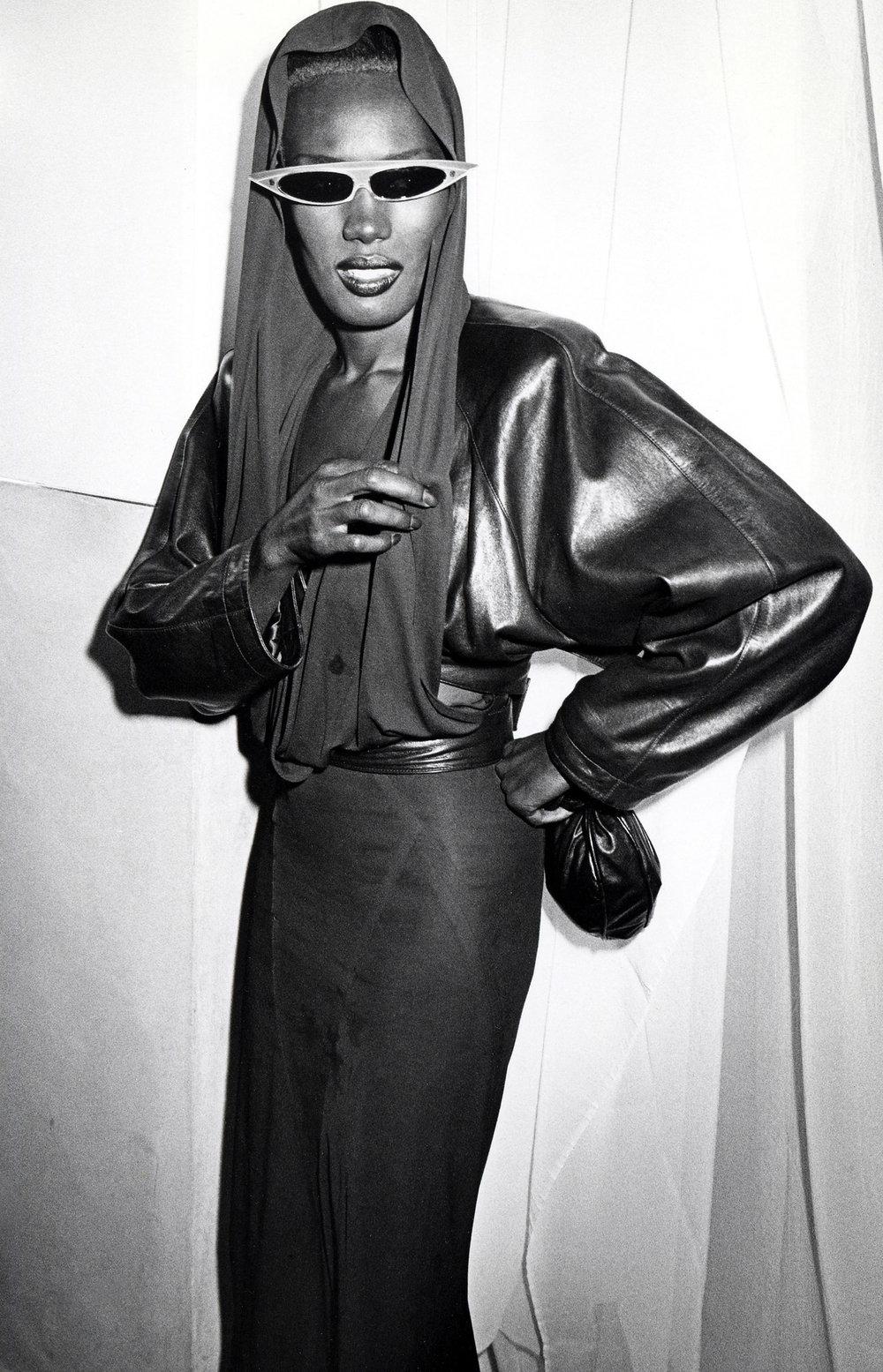 Grace Jones by Ron Galella/WireImage via Getty