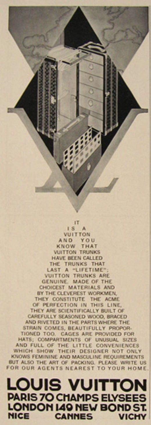 A Louis Vuitton ad from 1930