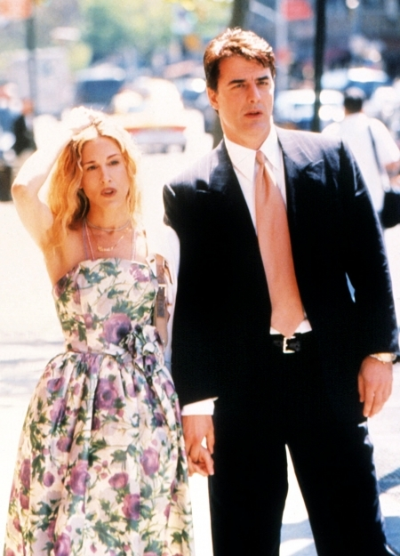 Carrie Bradshaw in Season 1, Sex and the City, 1998. Image courtesy HBO.