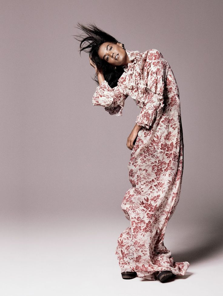 Liya Kebede by David Sims for Vogue US, September 2015