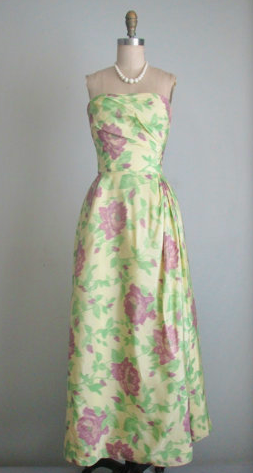 1950s Taffeta Dress via Etsy