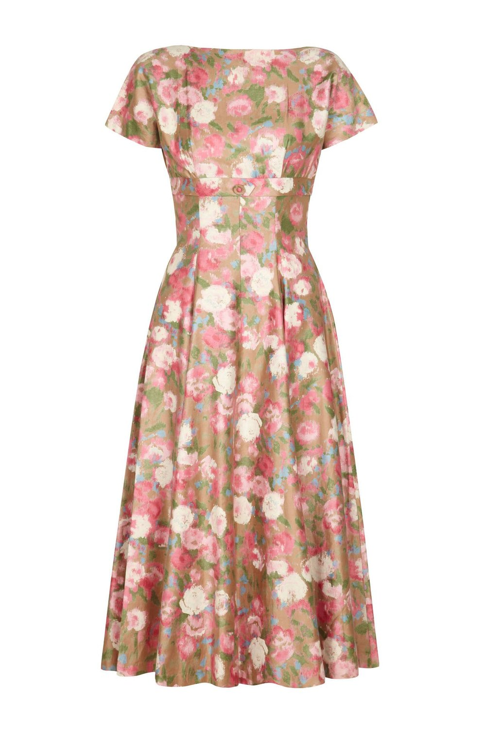 1950s Cotton Floral Dress via 1st Dibs