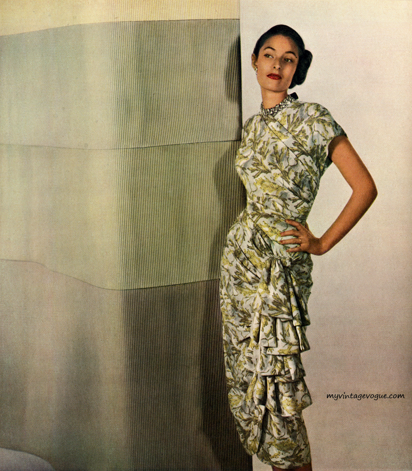 Herbert Sondheim rayon dress, 1948