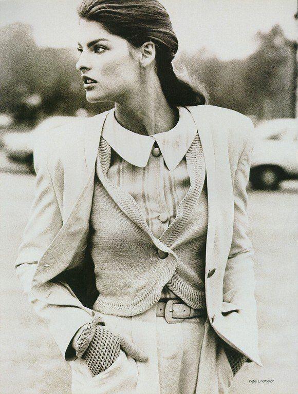 Linda Evangelista by Peter Lindbergh for Vogue, 1987