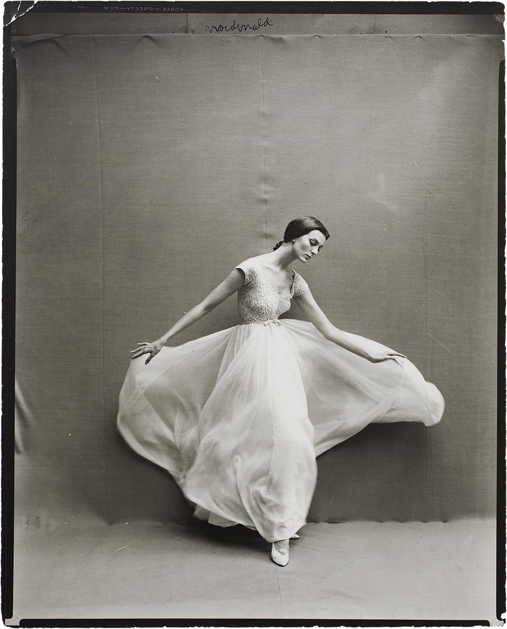 Carmen Dell'Orefice by Richard Avedon for Harper's Bazaar, October 1957