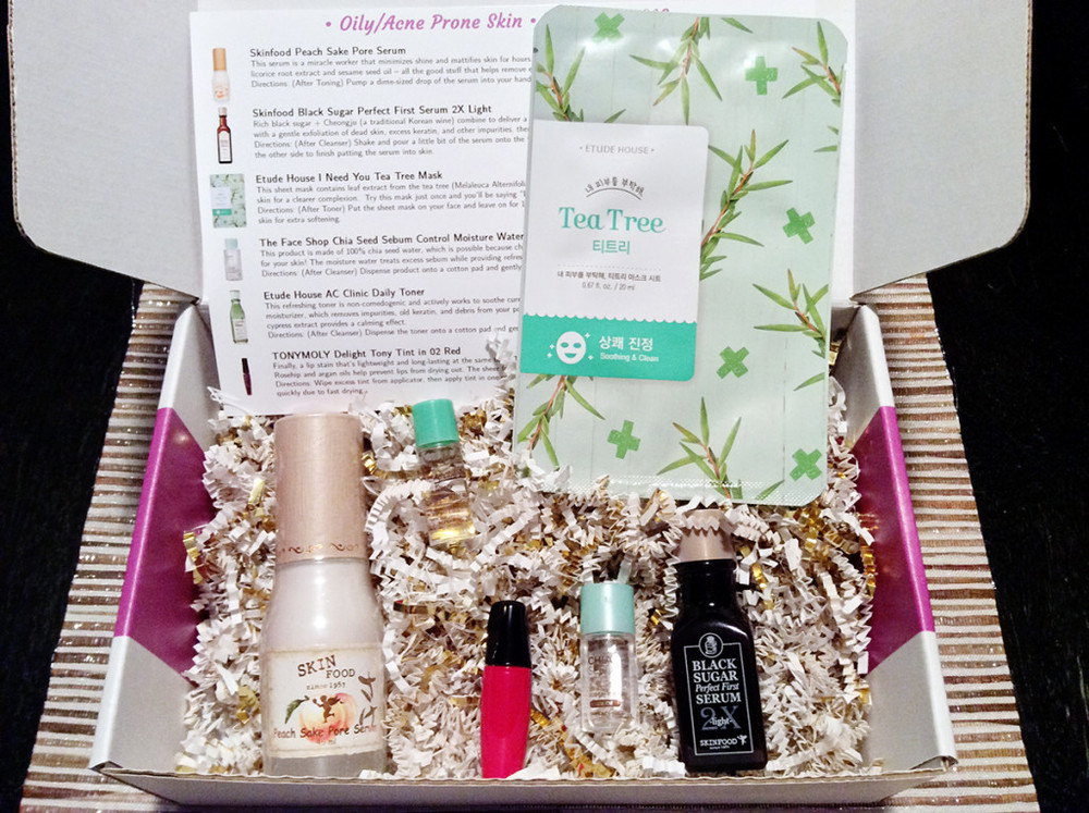 Jini Beauty Box - February 2016 - Oily/Acne Skin