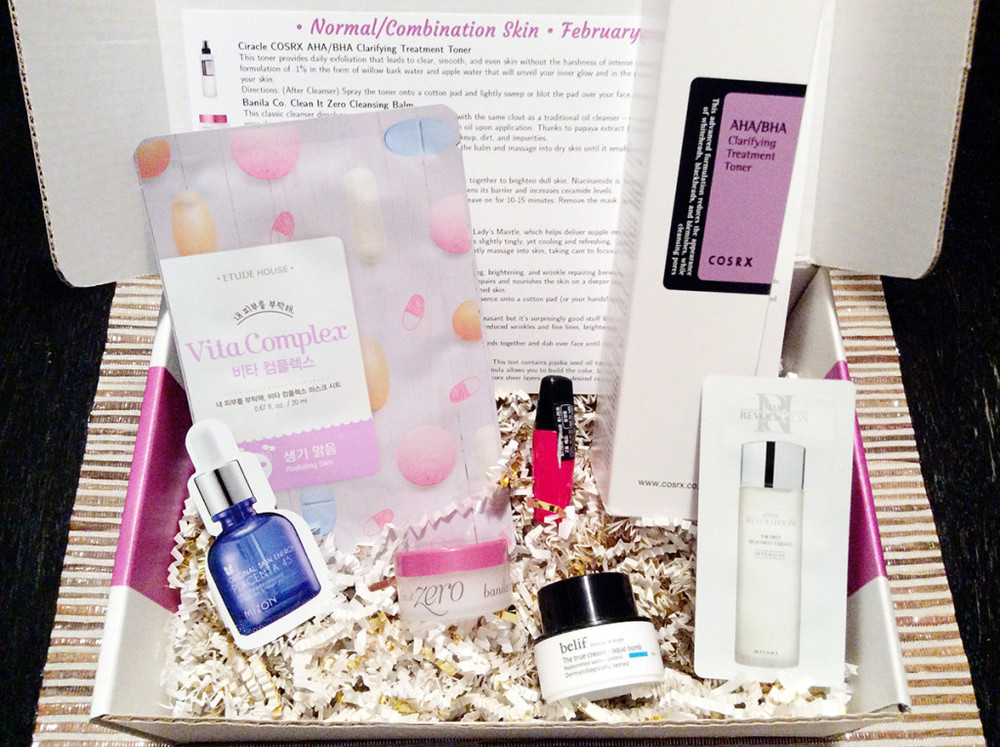 Jini Beauty Box - February 2016 - Normal/Combination Skin