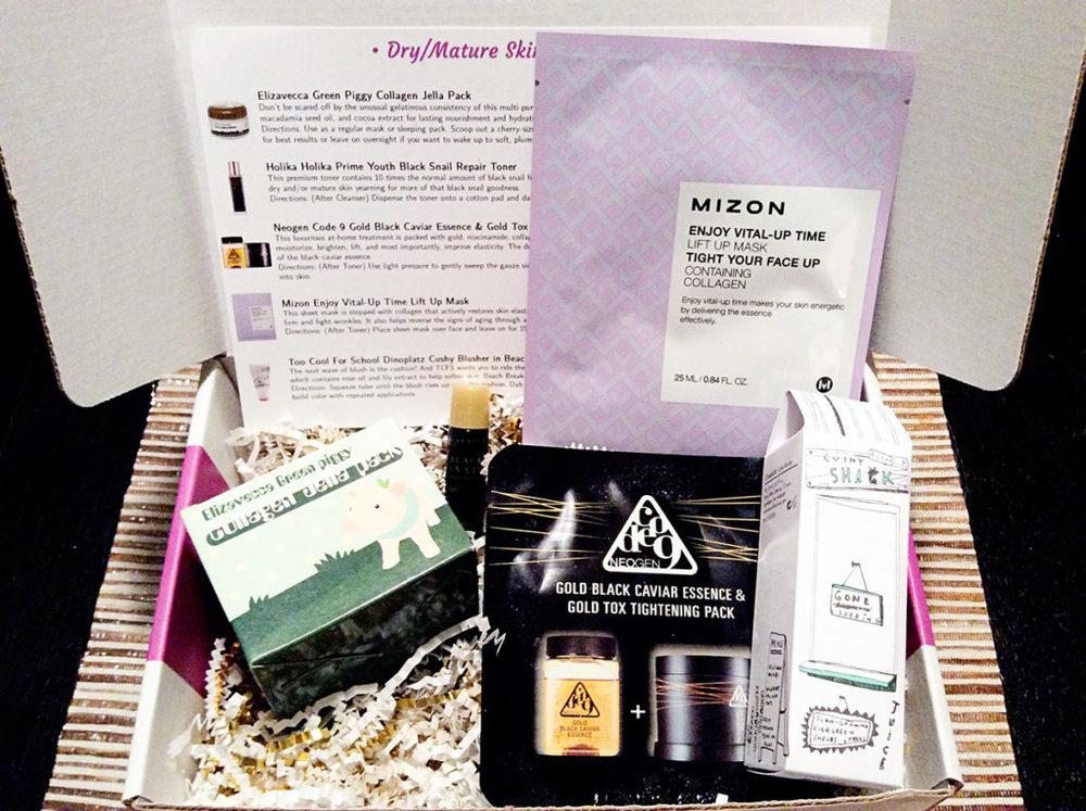 Jini Beauty Box - April 2016 - Dry/Mature Skin