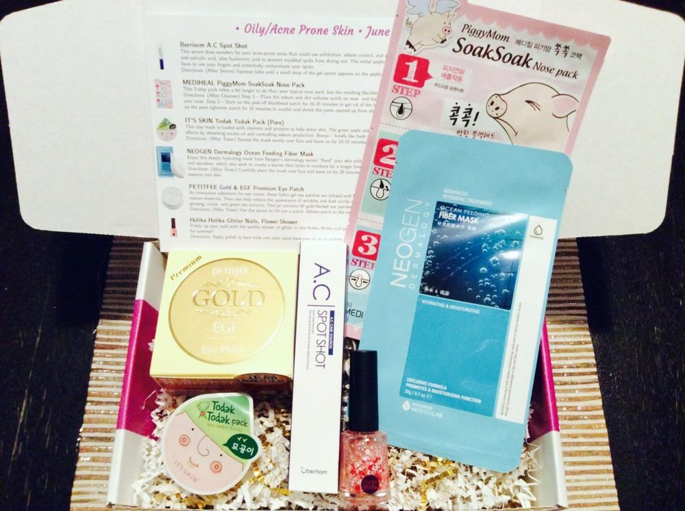 Jini Beauty Box - June 2016 - Oily/Acne Skin