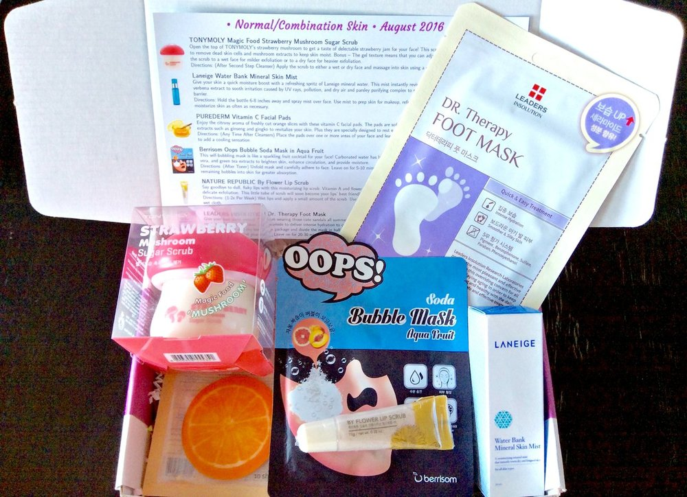 Jini Beauty Box - August 2016 - Normal/Combination Skin