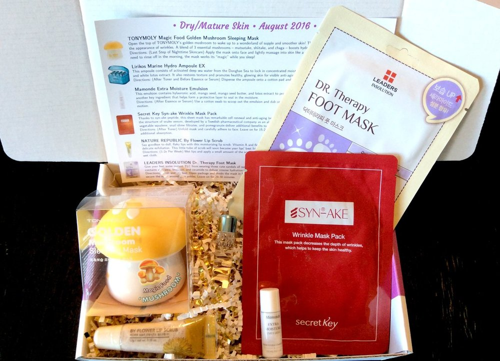 Jini Beauty Box - August 2016 - Dry/Mature Skin