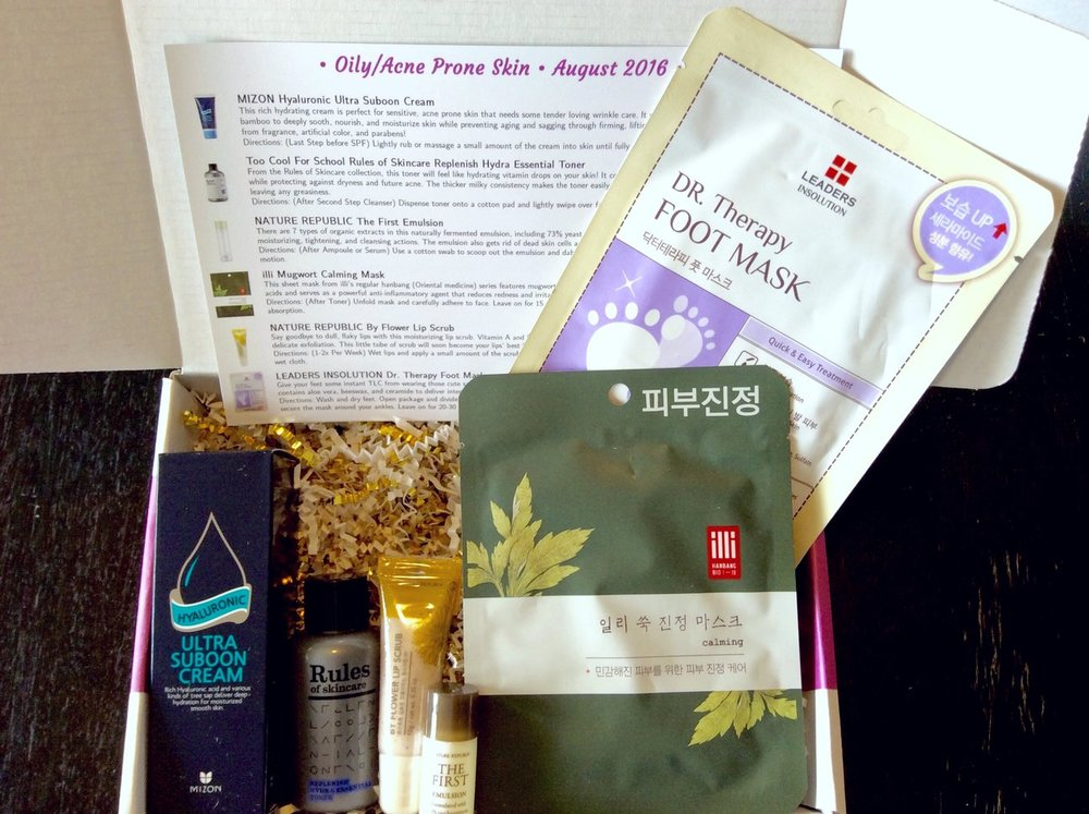 Jini Beauty Box - August 2016 - Oily/Acne Skin