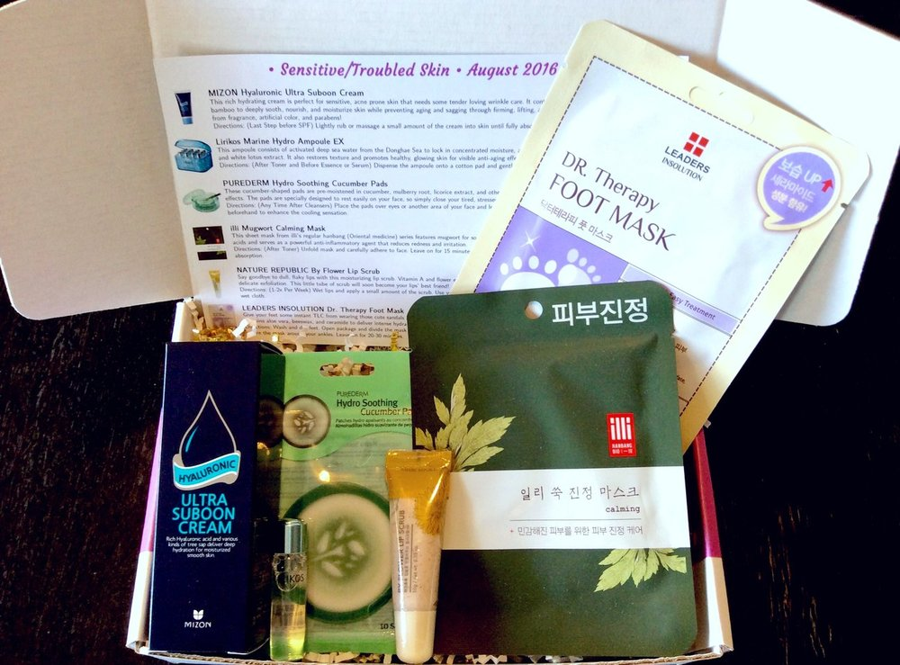Jini Beauty Box - August 2016 - Sensitive/Troubled Skin