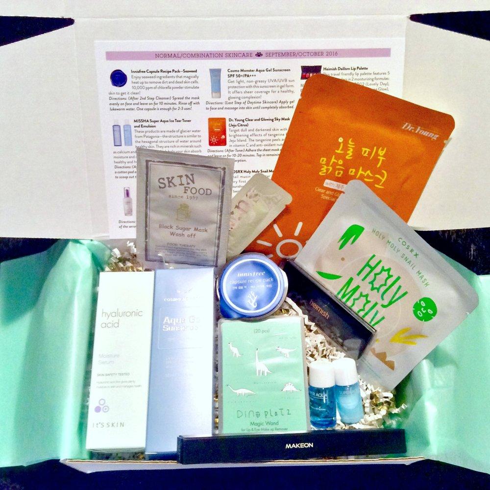 Jini Beauty Box - September/October 2016 - Normal/Combination Skin