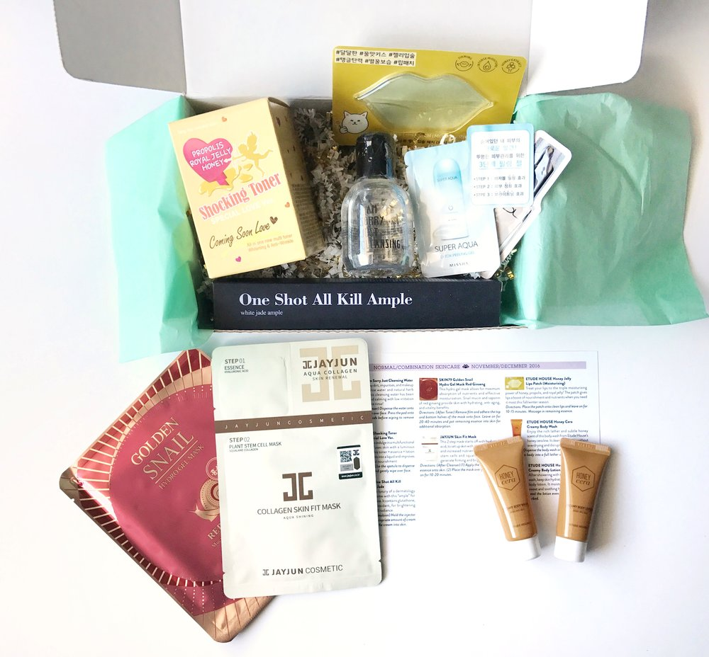 Jini Beauty Box - November/December 2016 - Normal/Combination Skin