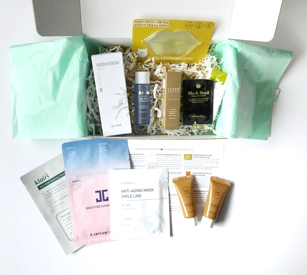 Jini Beauty Box - November/December 2016 - Dry/Mature Skin