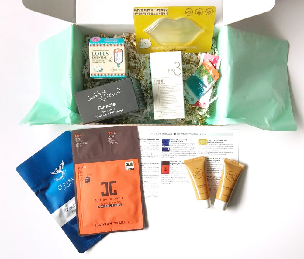 Jini Beauty Box - November/December 2016 - Oily/Acne Skin