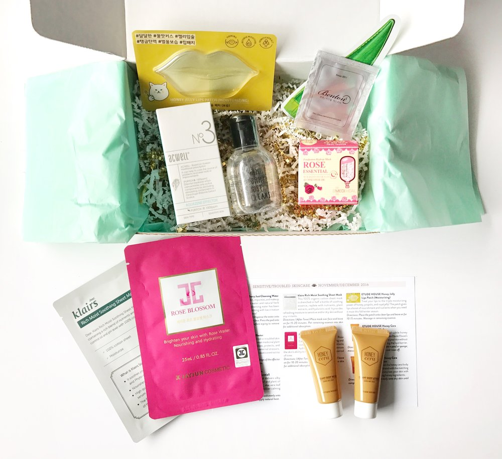 Jini Beauty Box - November/December 2016 - Sensitive/Troubled Skin