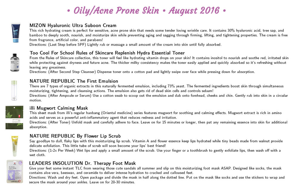 Jini Beauty - Oily/Acne Skin Products (August 2016)