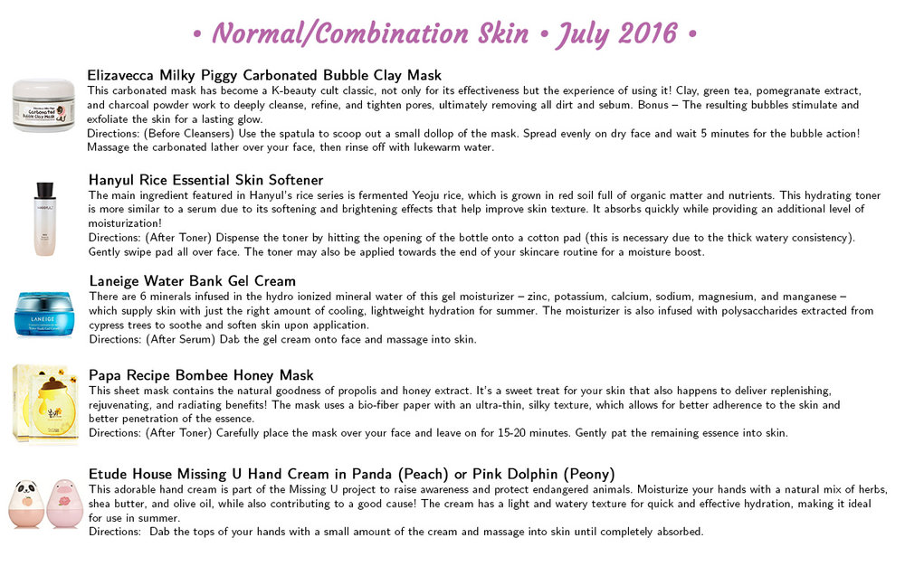 Jini Beauty - Normal/Combination Skin Products (July 2016)
